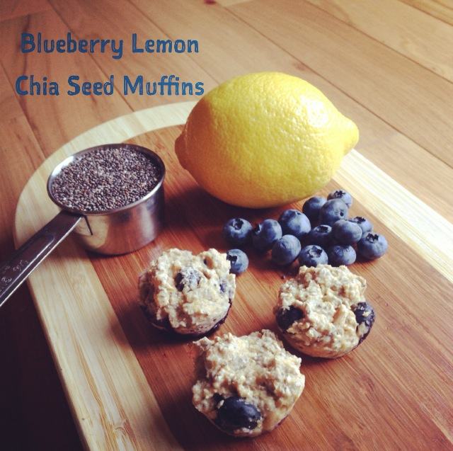 Blueberry Lemon Chia Seed Muffins