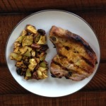 Grilled Turmeric Pork with Roasted Celeriac Root