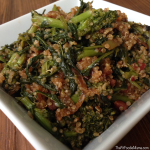 "Broccoli Rabe & Quinoa ""Utica Greens"""