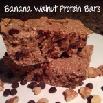 Banana Walnut Protein Bars