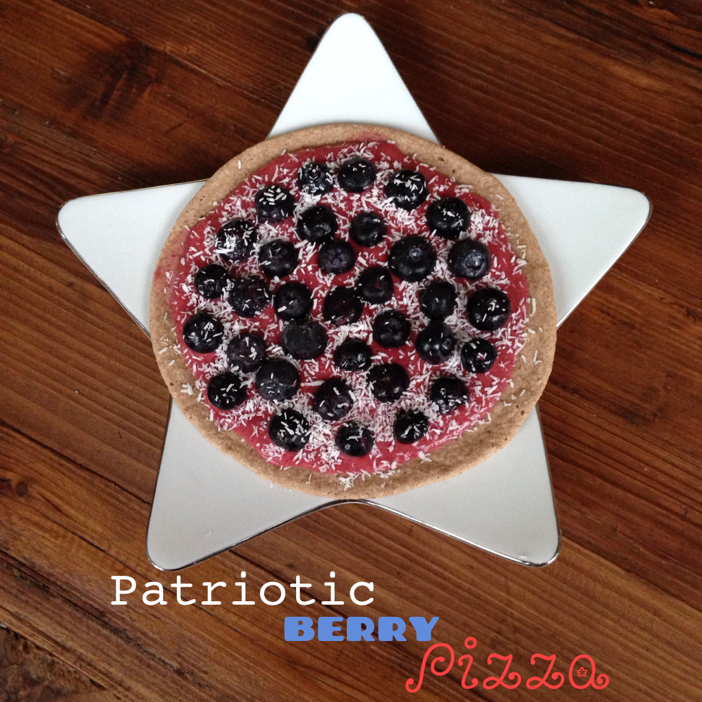 Patriotic Berry Pizza via TheFitFoodieMama.com