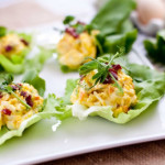 Mini Egg Salad Lettuce Wraps