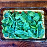 6th Layer- Spinach+ more sauce (not pictured)