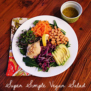 #MeatlessMonday: Super Simple Vegan Salad #PoweredbyPlants