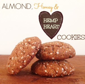 Almond Honey & Hemp Heart Cookies