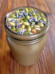 Chocolate Pumpkin Spice Superfood Smoothie #SeasonalSmoothie