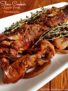Slow Cooker Apple Balsamic Pork Tenderloin