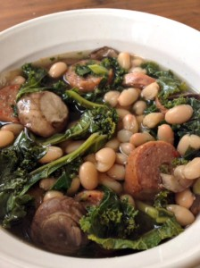 White Bean, Kale & Sausage Soup #GlutenFree