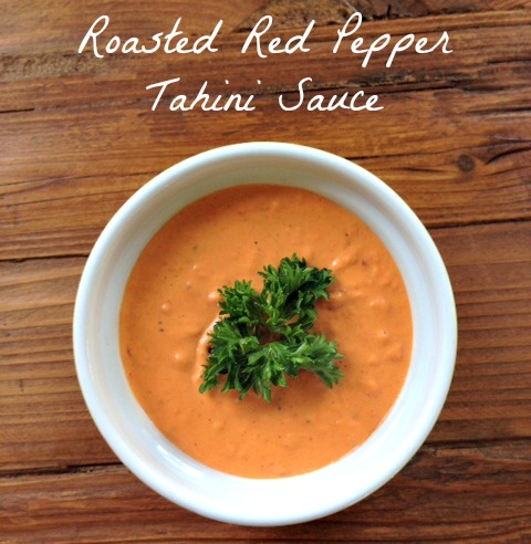 Roasted Red Pepper Tahini Sauce