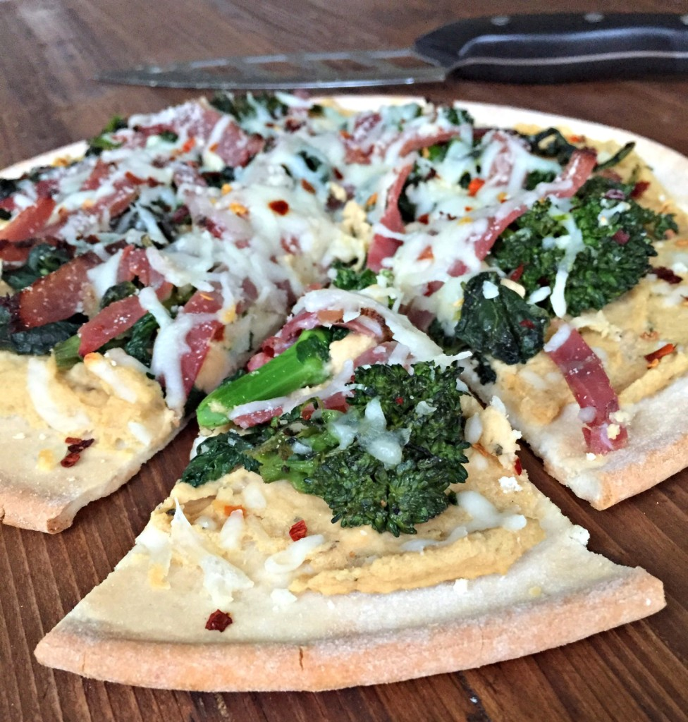 Prosciutto and Broccoli Rabe Pizza
