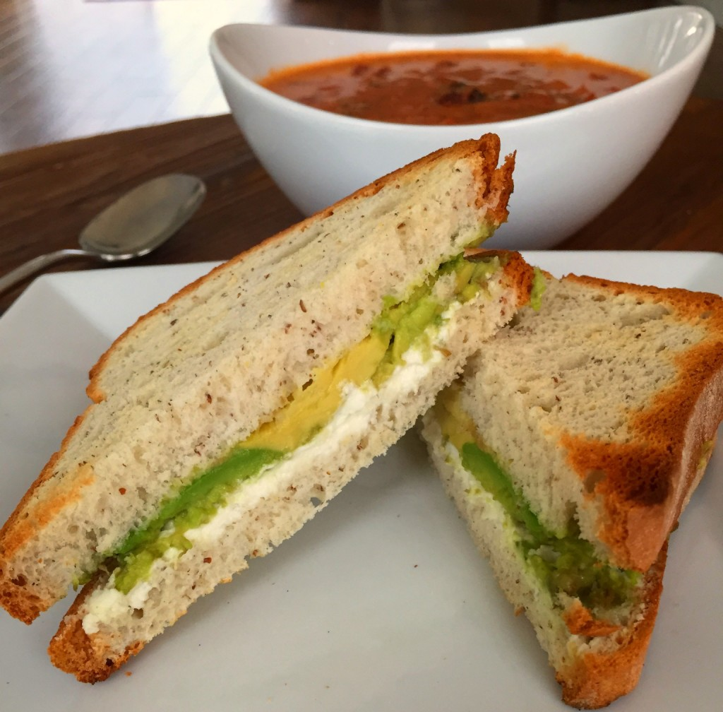 Toasted Goat Cheese and Avocado Sandwich {Gluten Free}