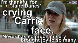 Homeland Carrie Cry Face