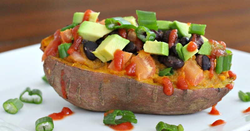 Southwestern Stuffed Sweet Potatoes {Gluten Free, Vegan}