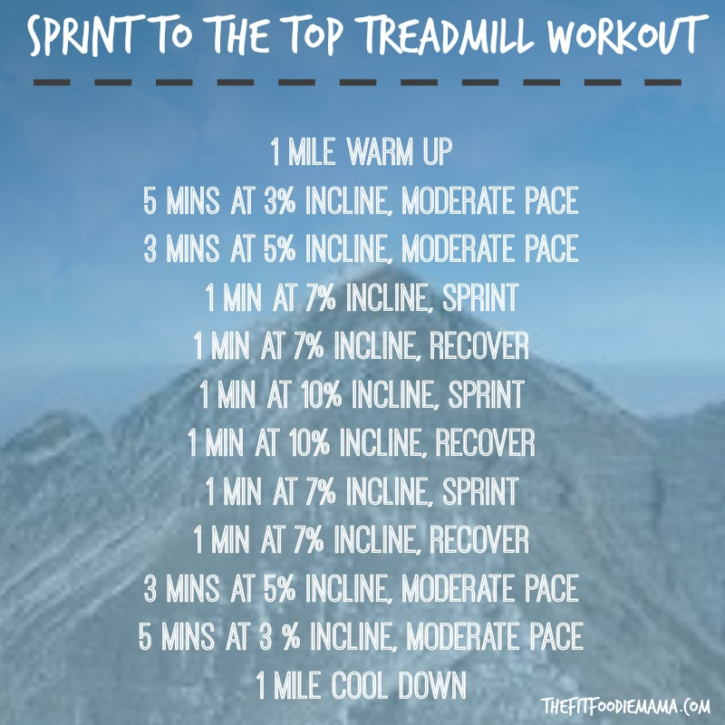 Sprint to the Top Treadmill Workout