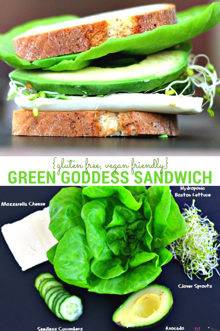 Healthy and nutritious Green Goddess Sandwich {Gluten Free & Vegan Friendly}