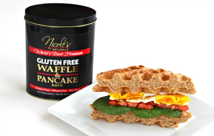 Nicole's Naturals Gluten Free Mix Giveaway + Breakfast Wafflewich {Dairy Free} via @FitFoodieMama