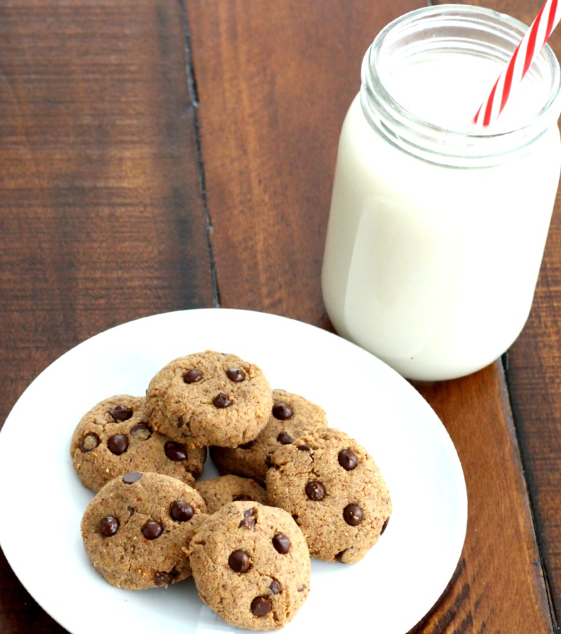 4 Ingredient Chocolate Chip Almond Butter Cookies {Gluten Free}