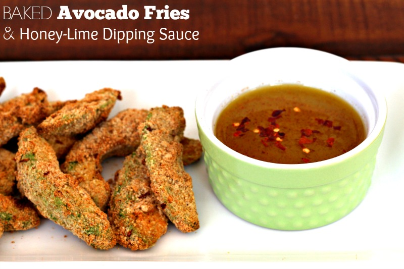 Baked Spicy Avocado Fries with Honey-Lime Dipping Sauce {Gluten Free, Dairy Free}