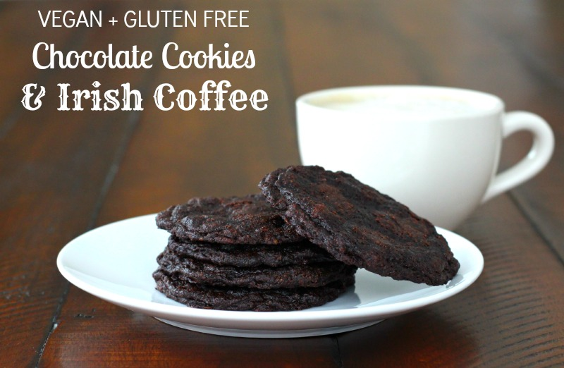 Vegan + Gluten Free Irish Coffee and Chocolate Cookies {Giveaway}