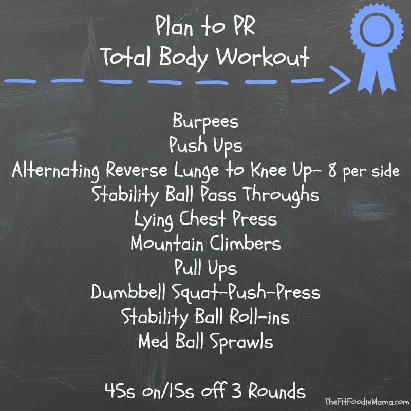 13.1 Plan of Attack, Plan to PR Workout via @FitFoodieMama