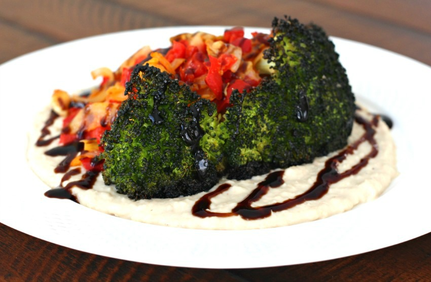 Roasted Broccoli with White Bean Puree 3