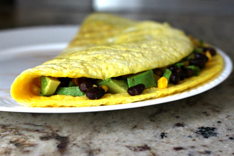 Open Face Mexican Omelet {Gluten Free, Dairy Free}