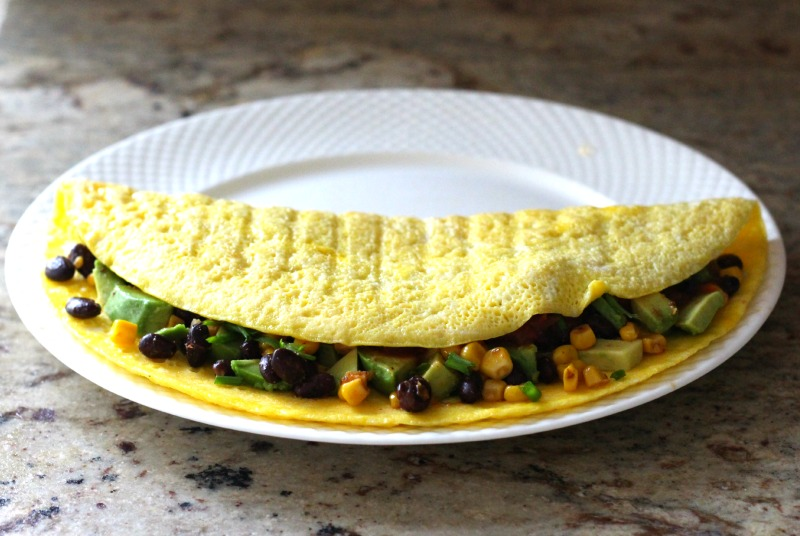 Meatless Monday: Open Face Mexican Omelet {Gluten Free, Dairy Free}