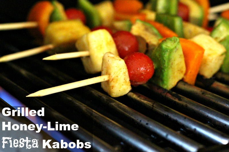 Grilled Honey Lime Fiesta Kabobs {Vegan, Gluten Free}