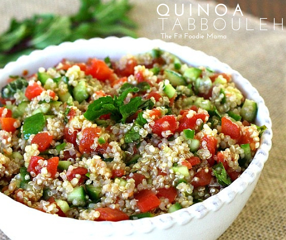 Toss the Flavor in Quinoa Tabbouleh with Redpack Tomatoes! {Gluten Free, Vegan}