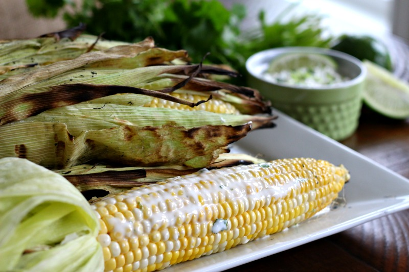 Meatless Monday: Grilled Corn with Cilantro Lime Butter {Dairy Free}