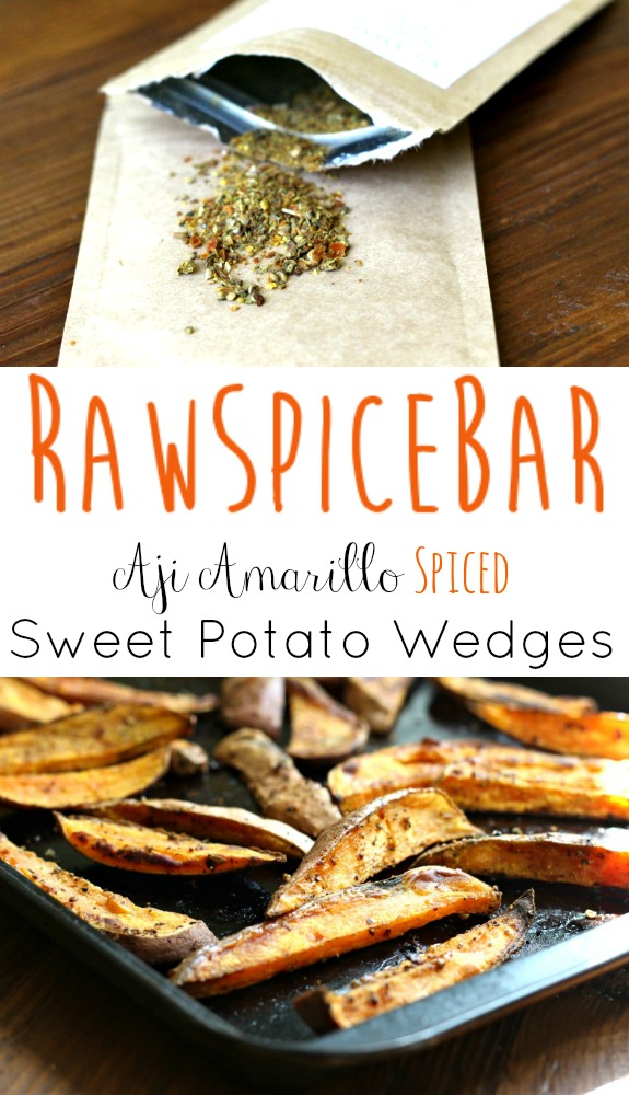 RawSpiceBar Aji Amarillo Spiced Sweet Potato Wedges + Giveaway