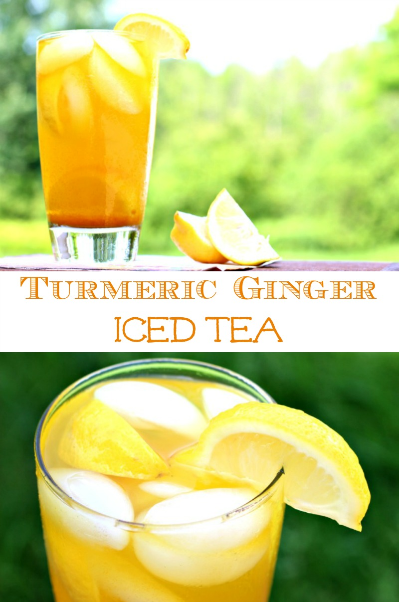 Turmeric Ginger Iced Tea #FoodieFriday, Anti-Inflammatory, Tea, Post Workout Tea