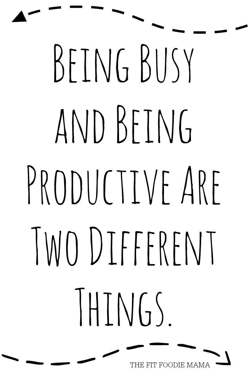 Being Busy vs Being Productive Quote