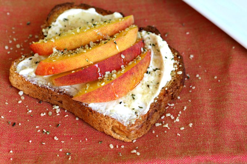 Honey & Hemp Peaches 'N Cream on Toast {Vegan, Gluten Free}