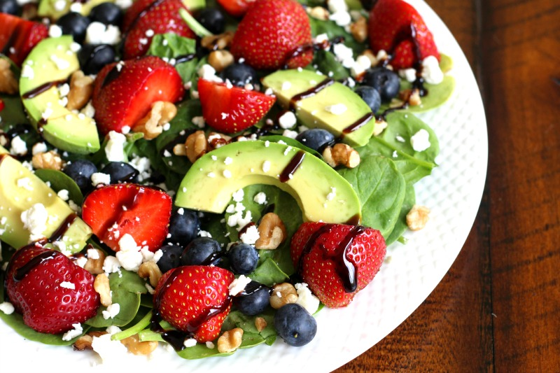 Strawberry Fields Salad with Avocado {gluten free}