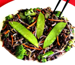 Forbidden Black Rice Stir Fry {low histamine, gluten free, soy free, vegan, fatigue fighting, healthy, meatless monday}