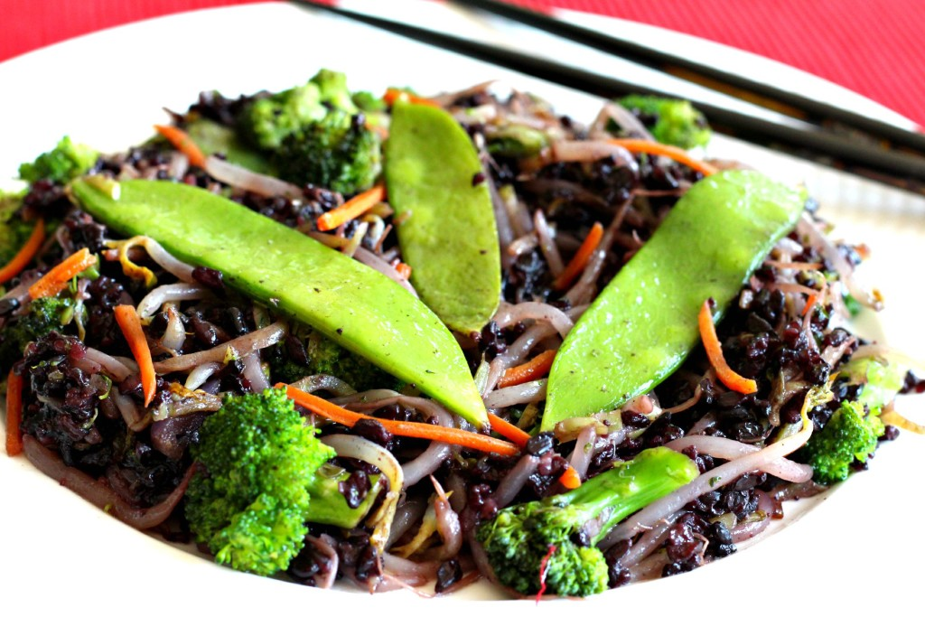 ... Fatigue Fighting Forbidden Black Rice Stir Fry - The Fit Foodie Mama