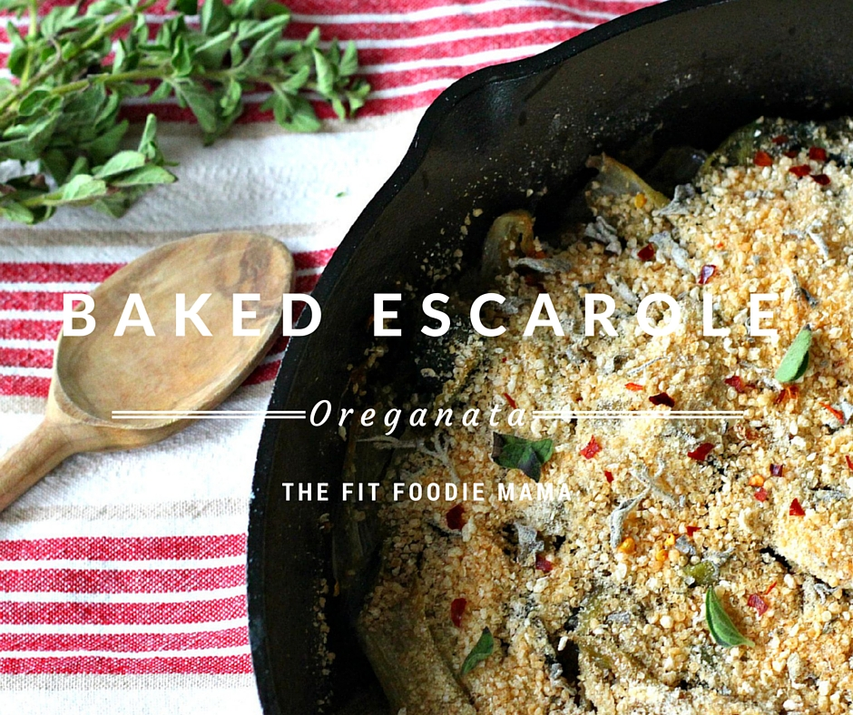 Meatless Monday: Baked Escarole Oreganata {Gluten Free, Vegan}