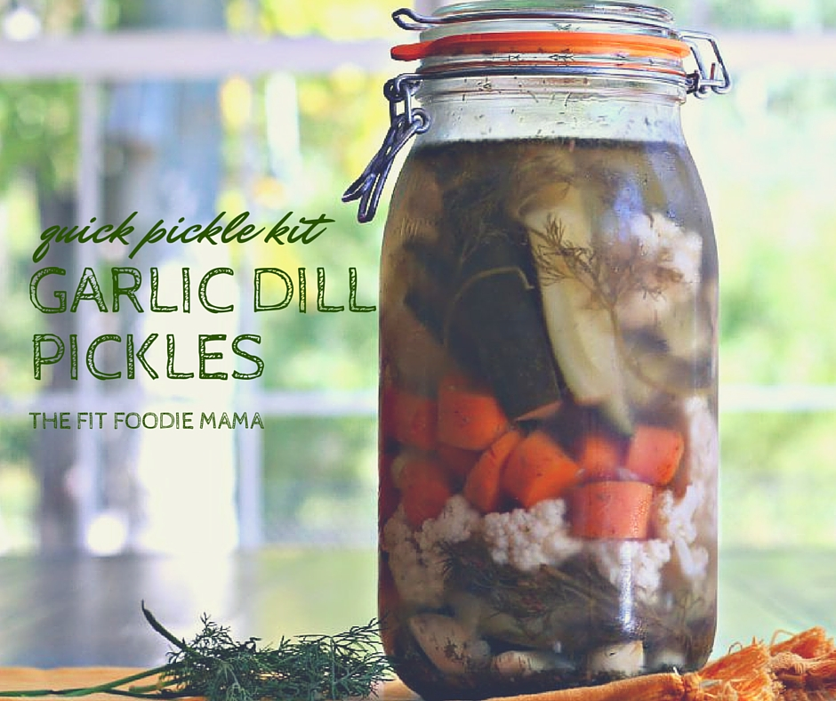 "Meatless Monday: ""Quick Pickle Kit"" Garlic Dill Pickles for Game Day!"