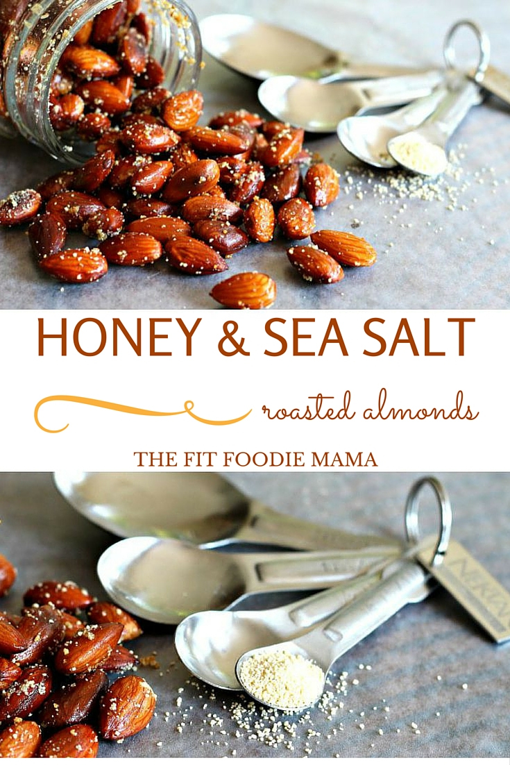 Easy Honey and Sea Salt Roasted Almonds Recipe {Less than 25 minutes, Meatless Monday, Nektar Naturals, Gluten Free, Healthy Snack, Football Snack, Honey Crystals}