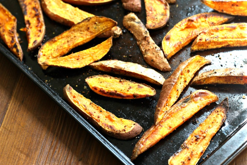 Spiced Sweet Potato Wedges Recipe {gluten free, dinner, snack, healthy, foodie friday}