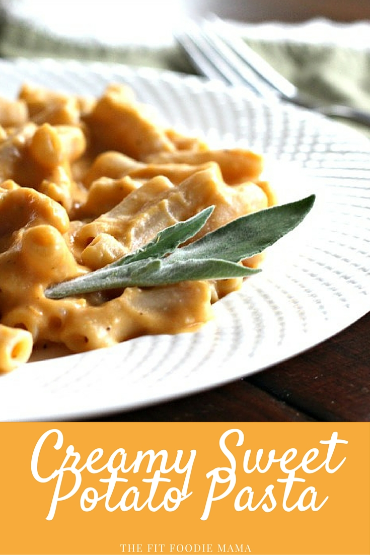 Creamy Sweet Potato Pasta {gluten free, vegan, sweet potato sauce, vegetarian, foodie friday, healthy dinner}