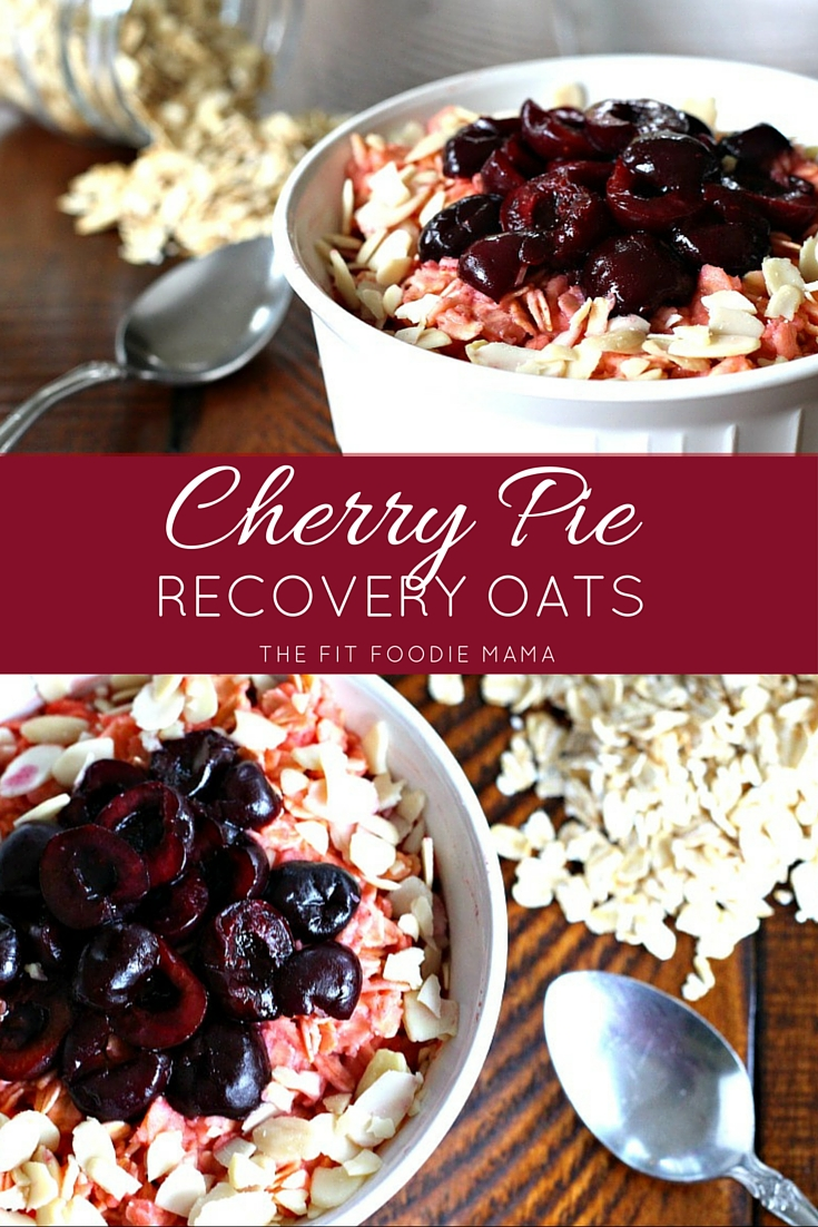 Cherry Pie Recovery Oats {Isopure Aminos, Gluten Free, Dairy Free, Tart Cherry, Breakfast Recipe, Post-Workout Oatmeal}