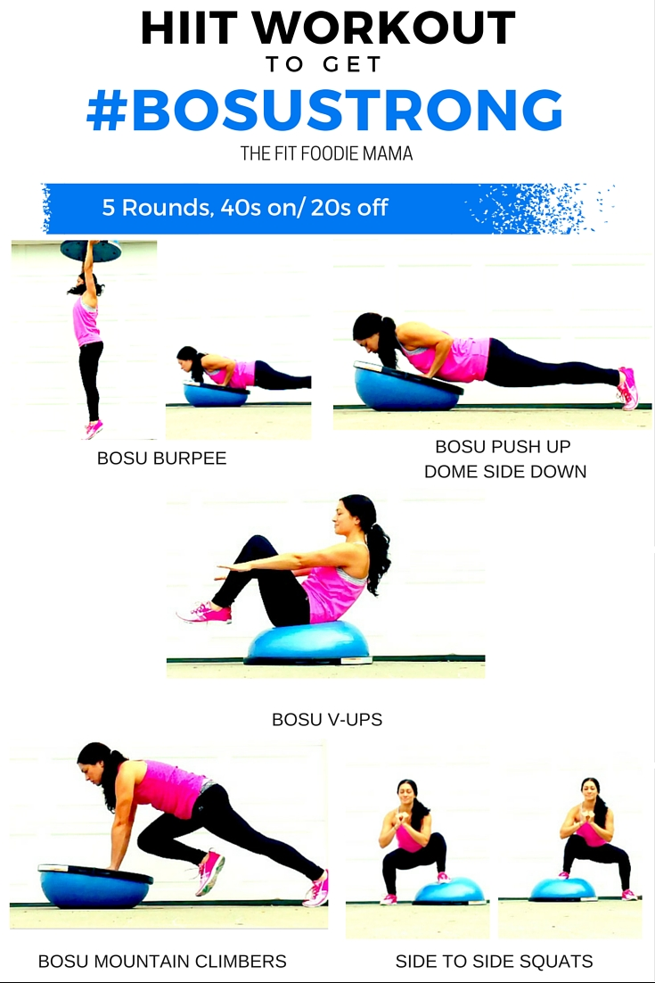 HIIT Workout To Get #BOSUstrong #SweatPink #ad