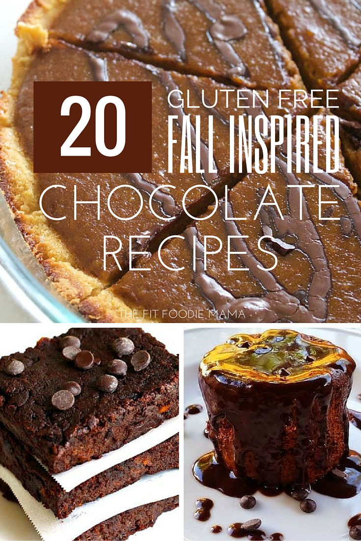 20 Fall Inspired Gluten Free and Dairy Free Chocolate Recipes {Dessert, Thanksgiving, Holidays, Halloween, Vegan, Vegetarian} via @fitfoodiemama