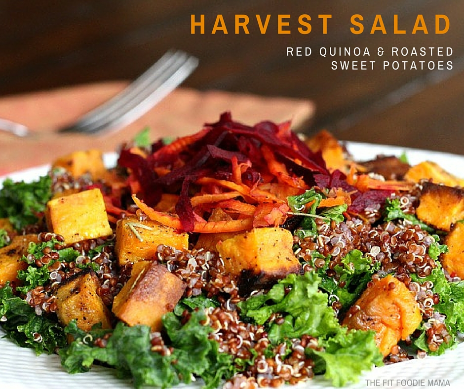 Meatless Monday: Red Quinoa & Roasted Sweet Potato Harvest Salad