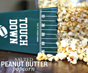 Salted Peanut Butter Popcorn with Mighty Nut