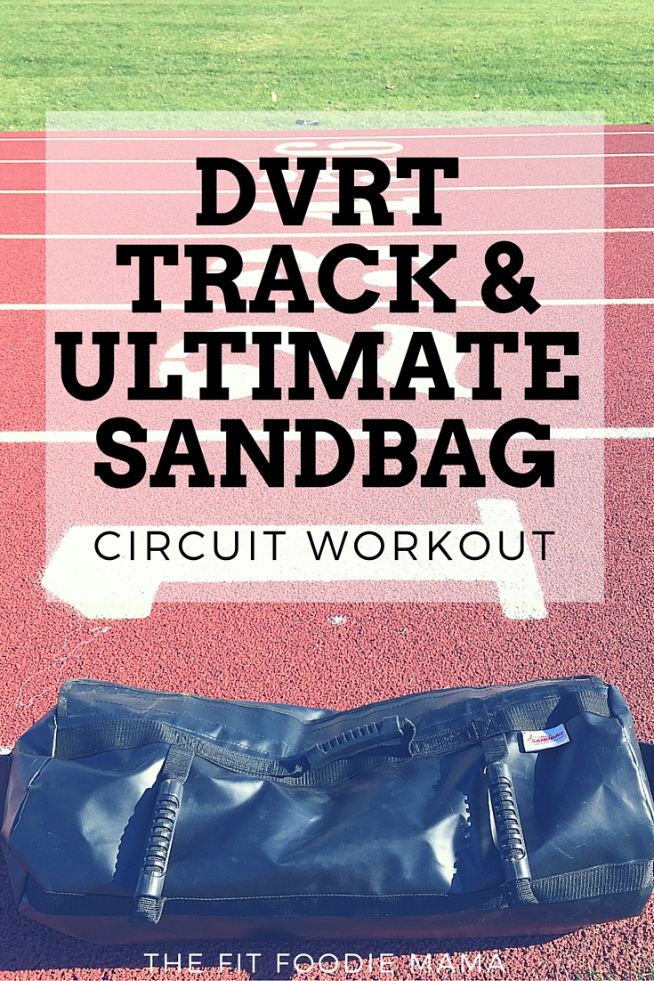 DVRT Track and Ultimate Sandbag Circuit Workout {@ultimatesandbag, dynamic variable resistance training, track workout, sprint workout, functional training, functional fitness, strength training workout for runners}