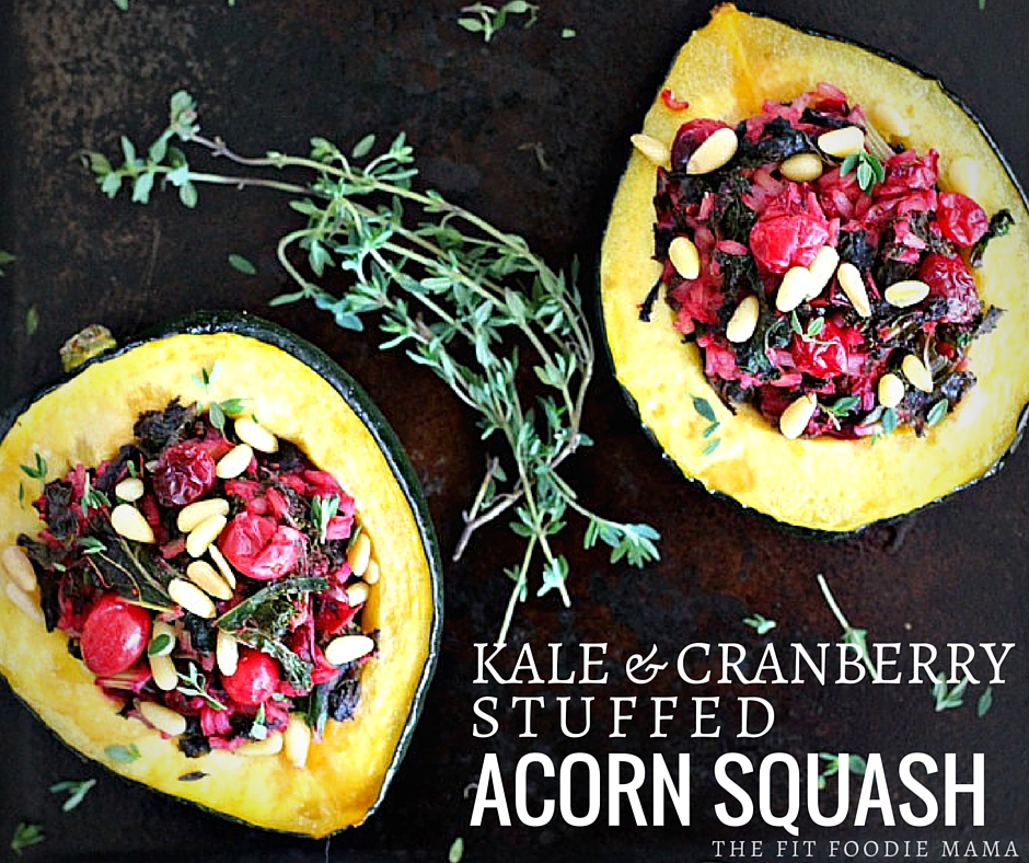 Meatless Monday: Kale & Cranberry Stuffed Acorn Squash