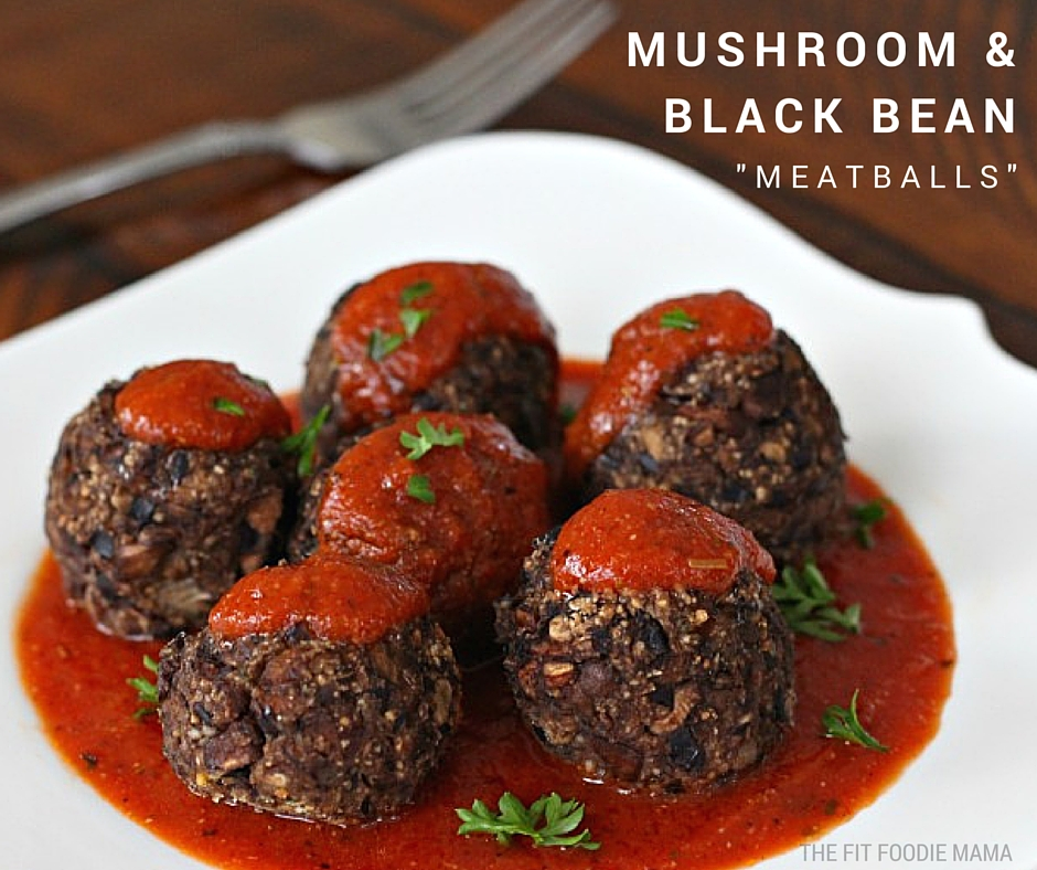 "Meatless Monday: Mushroom and Black Bean ""Meatballs"" {Gluten Free}"